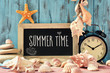 text summer time in a chalkboard