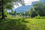 pond of montfort,isere,france