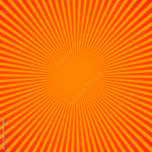 Bright yellow rays background. Comics, pop art style. Vector, eps 10. - 139594607