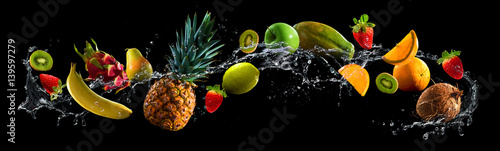 Fruits with water splash - 139597279