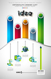 Infograph Brochure template with a lot of choices and a lot of design elements