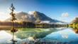 beautiful alpine lake