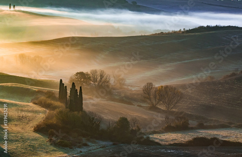 Early morning ligth in Val D'Orcia,Tuscany.