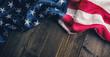 Quadro flag of the United States of America