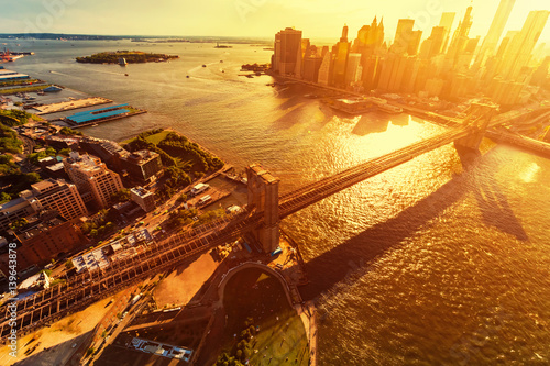 Foto op Plexiglas Brooklyn Bridge Brooklyn Bridge over the East River in New York