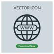 World wide web globe vector icon