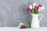 Fototapety Colorful tulips bouquet