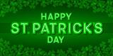 Happy St. Patricks Day greeting card, poster or banner. 17 March Saint Patricks Day celebration invitation