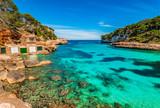 Mittelmeer Mallorca, schöne Bucht Strand Cala Llombards, Spanien Balearen Insel