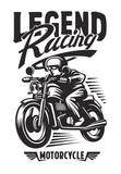 biker emblem and label