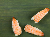 Three Pieces of King Prawn Japanese Style Sushi
