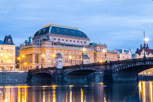 The National Theatre in Prague - Czech Republic.