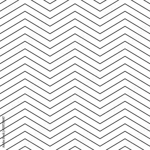 Stylish thin line chevron. Seamless vector pattern - 139730647