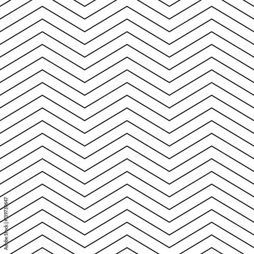Stylish thin line chevron. Seamless vector pattern - 139730647