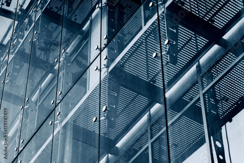 Architecture Background. Glass facade system Poster