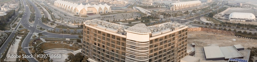 Foto op Canvas Abu Dhabi Yas Island panoramic view from the air