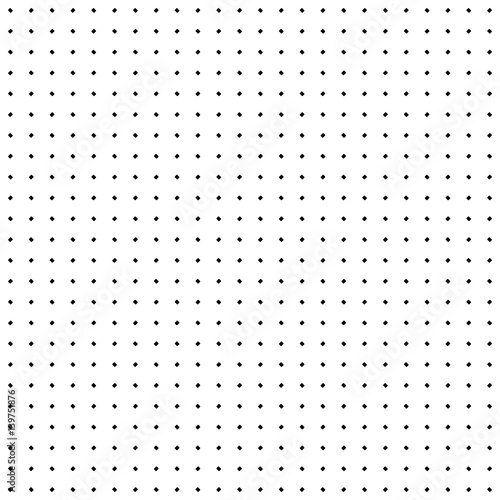 Vector seamless texture. Simple minimalist monochrome pattern. Modern stylish texture with small rounded geometric figures. Black & white illustration of perforated surface. Design for prints, decor - 139751876