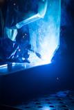 welder uses torch