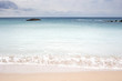 Quadro Soft blue ocean wave on sandy beach in Kenting, Taiwan.