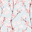 Blossom. Watercolor seamless floral pattern. Hand drawn background 7 - 139806282
