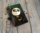 Панда, сделанная из мороженного. Творческая еда для детей и хорошего настроения.