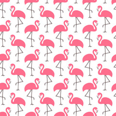 Graphic Flamingo Seamless Pattern Pink