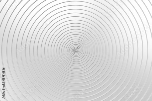 White concentric spiral on white background