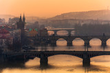 Prague Cityscape at Sunset