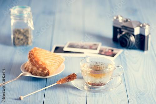 A glass of hot tea © MuzzyCo