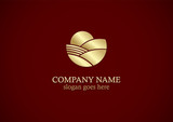 gold nature landscape logo