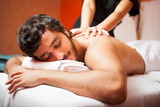 Man having a massage in a spa