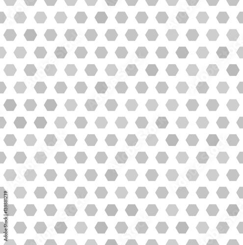 Hexagon pattern. Vector seamless background
