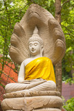 Thai white buddha statue