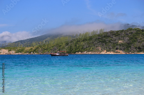 Poster Beach of Farol in the city of Arraial do Cabo  - Brazil