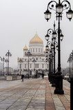 Cathedral of Christ the Savior in the spring fog