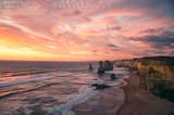 12 Apostel bei Sonnenuntergang, Great Ocean Road, Australien