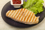Grilled turkey steak