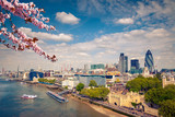 Aerial view of London City at spring - 139948299
