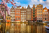 Traditional old buildings in Amsterdam at spring, the Netherlands - 139951211