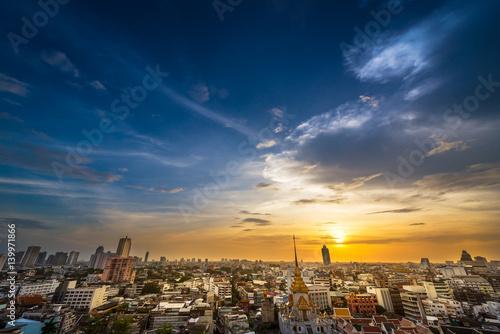 Poster Bangkok metropolis cityscape