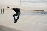 Skater jumping over stars