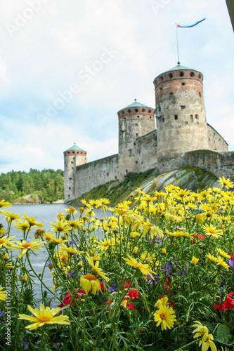 Savonlinna medieval castle Poster