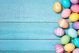 Colorful Easter Eggs Border - 139990822