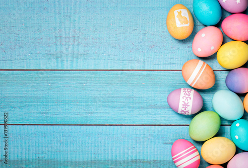 Colorful Easter Eggs Border Poster