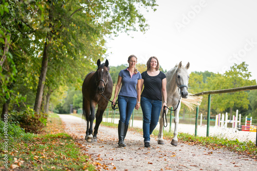 Poster Friends With Their Horses
