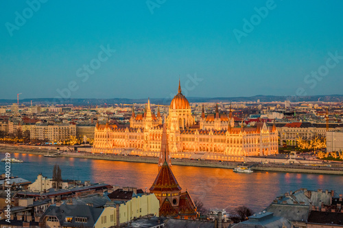 Poster Budapest in Sunset