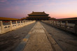 Morning Sunrise at Forbidden City Palace Heavenly Purity in Beijing, China