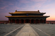 Forbidden City Hall of Supreme Harmony Morning Sunrise Front in Beijing, China