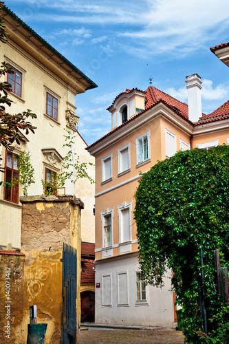 Poster Picturesque street in Prague, Czech Republic.