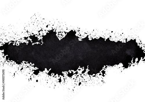Black sprayed line Poster